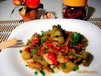 Рецепт Овощное рагу с брокколи и грибами рецепт с фото