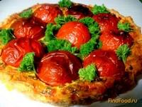 Рецепт Заливной пирог с фаршированными помидорами рецепт с фото