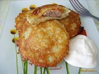 Рецепт Драники с мясом и помидором рецепт с фото