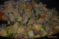 Рецепт Капуста тушеная с говяжьей тушенкой рецепт с фото