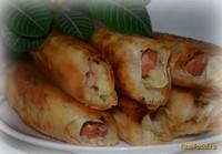 Рецепт Сосиски в лаваше с картофельным пюре и сыром рецепт с фото