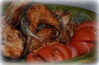 Рецепт Горбуша жареная ароматная с чесноком рецепт с фото