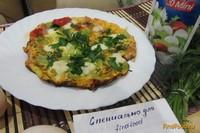 Рецепт Яичница с моцареллой и зеленью рецепт с фото