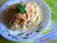 Рецепт Лапша с томатно-грибным соусом рецепт с фото