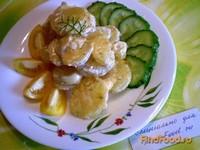 Рецепт Картофель запеченный в сметане с сыром рецепт с фото