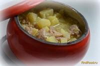Рецепт Картофель с куриным мясом с чесноком и сметаной в горшочке рецепт с фото
