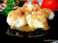 Рецепт Цветная капуста под сухарным соусом рецепт с фото