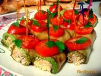 Рецепт Кабачковые рулетики фаршированные мясом и грибами рецепт с фото