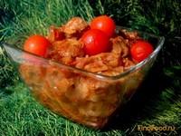 Рецепт Капуста тушёная со свининой и томатом рецепт с фото