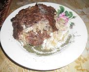 Рецепт Картофельная запеканка с фаршем и луком рецепт с фото
