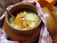 Рецепт Тыквенная каша с салом в горшочке рецепт с фото
