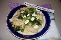 Рецепт Лапша с козьим сыром и зеленью рецепт с фото