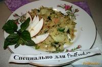 Рецепт Тушеная капуста с яблоком рецепт с фото