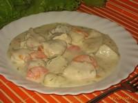 Рецепт Свинина с картофелем и овощами в сырном соусе рецепт с фото