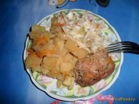 Рецепт Тушеное мясо с картошкой рецепт с фото