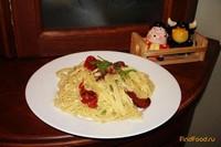 Рецепт Паста аля-крабонара с вялеными помидорами рецепт с фото