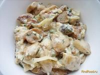 Рецепт Белые грибы в сливках рецепт с фото