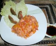 Рецепт Овощи с рисом и мясом рецепт с фото