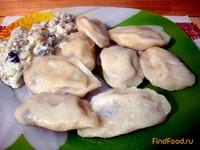 Рецепт Вареники с картофелем и белыми грибами рецепт с фото