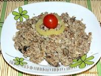 Рецепт Гречка запеченная с грибами рецепт с фото