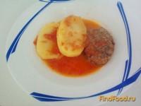 Рецепт Котлеты с картошкой в томатном соусе рецепт с фото
