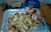 Рецепт Куриные крылышки запеченные с ароматной картошкой рецепт с фото