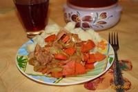 Рецепт Тушеное мясо с гарниром из цветной капусты рецепт с фото