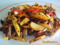 Рецепт Жаркое из баранины с разноцветными перцами рецепт с фото