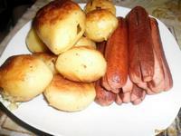 Рецепт Жареная картошечка с сосисками рецепт с фото