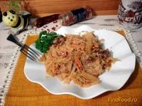 Рецепт Капуста тушёная с корейкой в томатно-сметанном соусе рецепт с фото