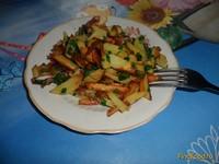 Рецепт Жареный картофель с зеленым луком рецепт с фото