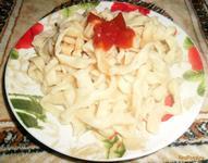 Рецепт Вкусная домашняя лапша рецепт с фото