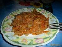 Рецепт Диетически-постная тушеная капуста рецепт с фото
