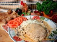 Рецепт Биточки с картофелем под грибной подливой рецепт с фото