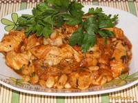 Рецепт Быстрая фасоль в томате с куриным мясом рецепт с фото