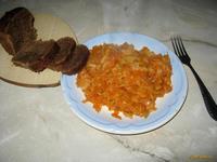 Рецепт Капуста тушеная по-домашнему рецепт с фото