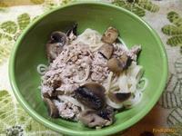 Рецепт Спагетти с говядиной и шампиньонами рецепт с фото
