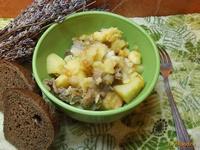 Рецепт Картофель тушеный с цветной капустой рецепт с фото