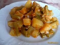 Рецепт Картошка тушеная со стручковой фасолью рецепт с фото