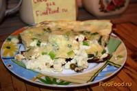 Рецепт Омлет с зеленым луком и горошком рецепт с фото
