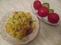 Рецепт Картошка жареная на сале с чесноком рецепт с фото