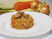 Рецепт Рис с овощами и свининой рецепт с фото
