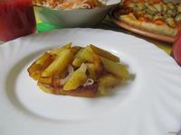 Рецепт Картофель жареный с луком и чесноком рецепт с фото