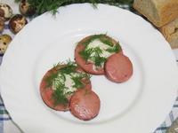 Рецепт Жареные перепелиные яйца в колбасе рецепт с фото