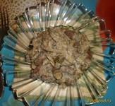 Рецепт Куриные сердечки с грибами в сметане рецепт с фото