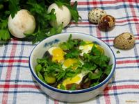 Рецепт Грибы под перепелиными яйцами рецепт с фото