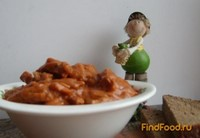 Рецепт Гуляш из соевого мяса рецепт с фото