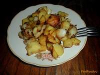Рецепт Жареный картофель с репчатым луком рецепт с фото