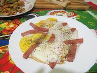 Рецепт Яичница с колбасой рецепт с фото