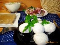 Рецепт Картофель печёный в золе с сельдью рецепт с фото